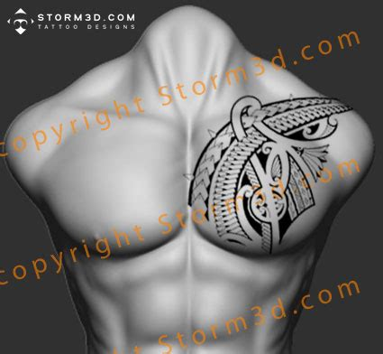 polynesian chestpiece tattoo flash images  sale suits