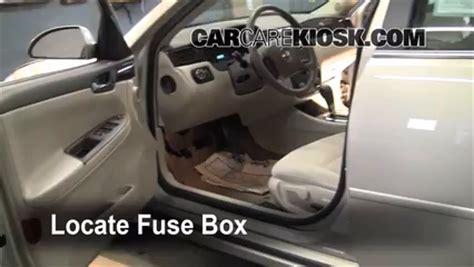 interior fuse box location: 2006 2016 chevrolet impala