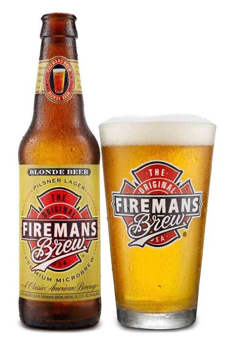beer bottle fireman s brew blonde beer bottle logo pint glass