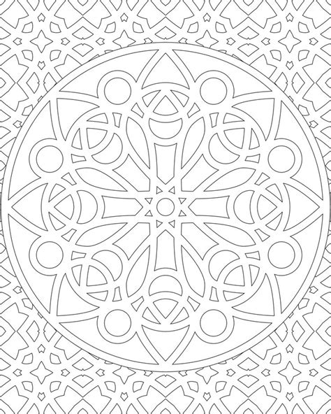 cute mandala coloring pages another one that looks like a rose window really like it