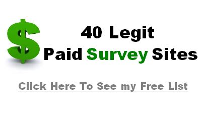 Legitimate Paid Surveys - 5 ways to spot paid surveys scam