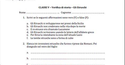 test di vero guamod 236 scuola verifica sugli etruschi per la scuola primaria