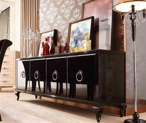 Glamour Black Sideboard Modern Buffets Stations Black Modern Buffet