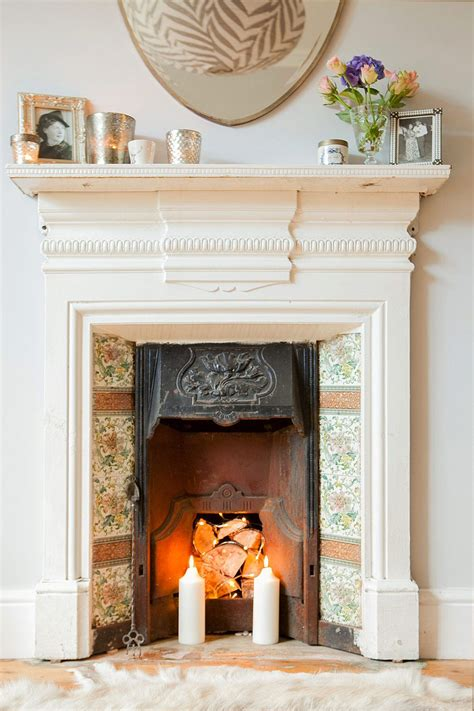 hannahs renovation victorian living room fireplace