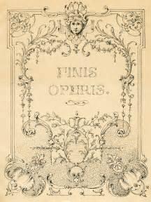 Vintage Illustrations Gorgeous Ornate Label Frame