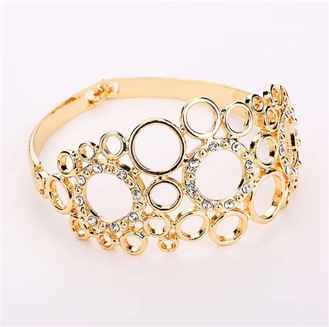 Beautiful Bracelet beautiful netted gold plated necklace earring bracelet