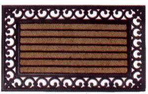 zerbini in ghisa zerbino gomma e cocco rettangolare rb108 fonderia