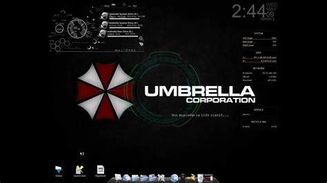 themes hd mein mein neuer desktop umbrella corp theme youtube