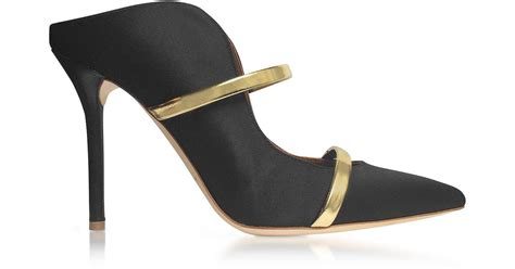 black high heel mules malone souliers maureen satin and leather high heel mules