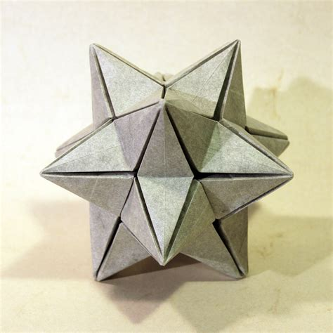 Stellated Dodecahedron Origami - origami stellated dodecahedron tutorial origami handmade