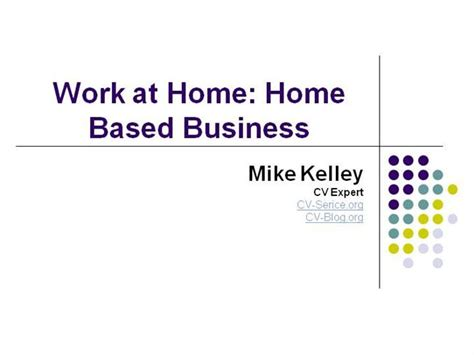 work at home home based business authorstream