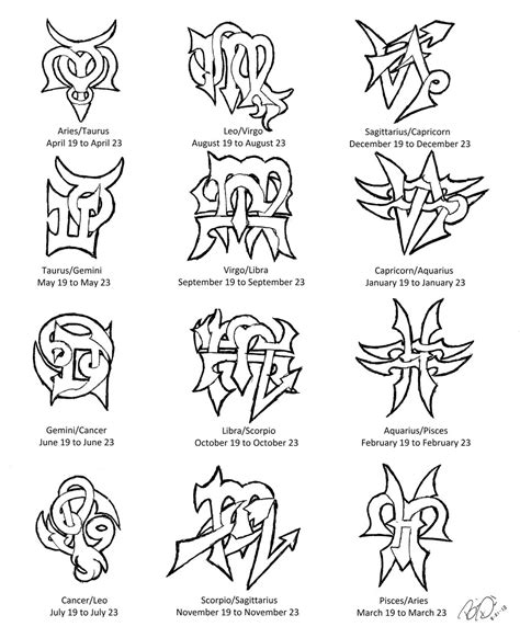 aquarius constellation tattoo designs zodiac cusps designs by wolfrunner6996 on deviantart