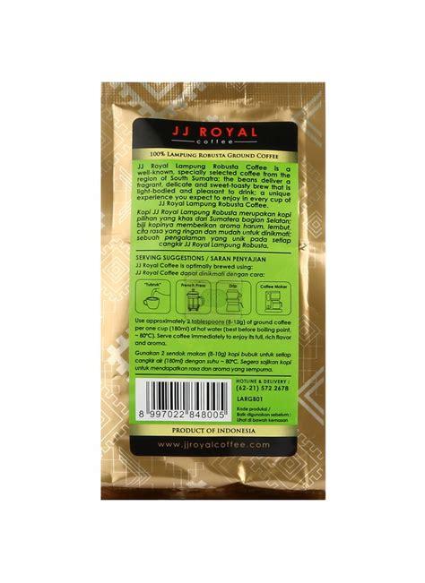 Kompor Listrik Robusta jj royal lung robusta coffee pck 100g klikindomaret