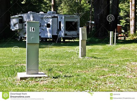 rv hook up pedestals stock photos image 22618733