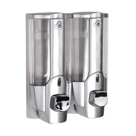 Soap Dispenser Krisbow Tempat Sabun Cair 380ml Berkualitas jual starhome 2 in 1 with key lock dispenser sabun cair silver harga kualitas