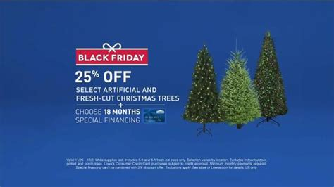 lowe s black friday tv spot christmas tree deal ispot tv