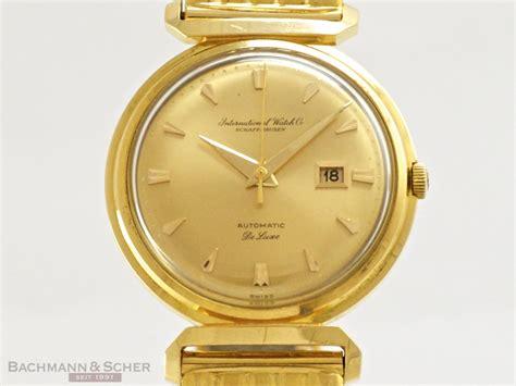 iwc deluxe vintage gentlemans 18k yellow gold