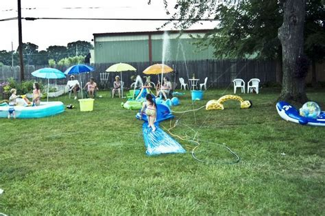 water park in backyard backyard water park becks retro surfer 1st b day pinterest