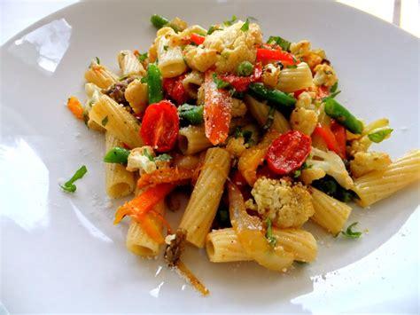 vegetables pasta bright vegetable pasta recipe dishmaps