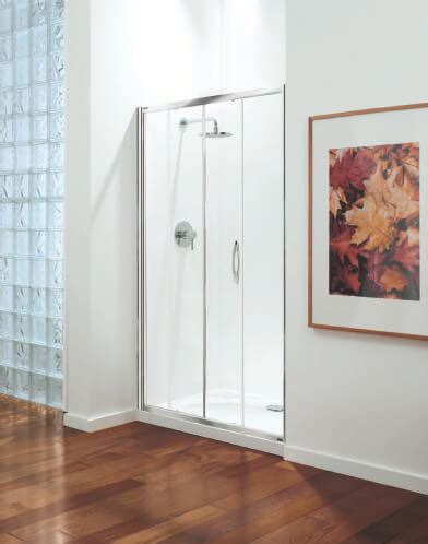Coram Shower Doors Coram Premier Sliding Door Shower Enclosure 1400mm Satin Glass Psl14suc