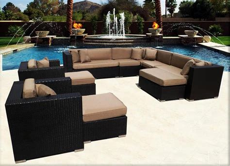 palm springs patio furniture luxury wicker sectional sofa