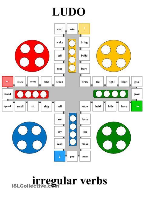 printable games irregular verbs ludo irregular verbs esl worksheets of the day