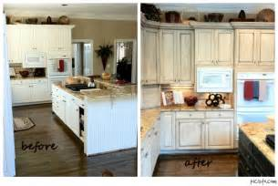 Chalk Paint Kitchen Cabinets Before And After Melamine Painted Cabinets