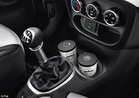 fiat espresso machine fiat adds built in espresso coffee machines to new cars