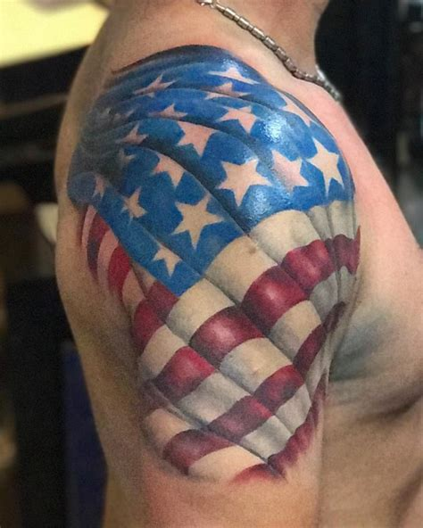 american flag shoulder tattoos 53 coolest must designs for patriotic 4th july tattoos
