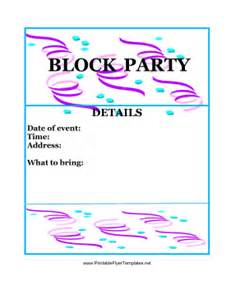 free printable flyers templates block flyer color