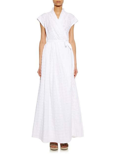 Gingham Panel A Line Dress thierry colson isolde gingham cotton dress in white lyst