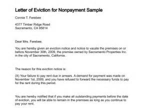 eviction letter to tenant template landlord to tenant 30 day notice vacate letter sle