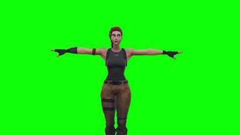 fortnite default skin  pose greenscreen youtube