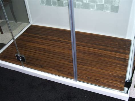 custom teak shower bench custom teak mat for walk in shower the bath pinterest
