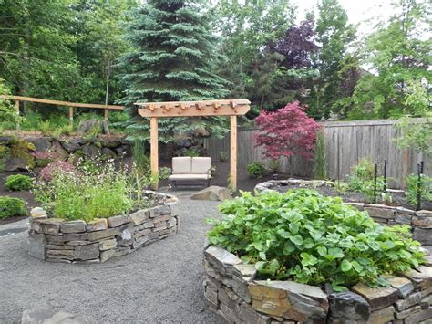 Natural Stone Raised Planting Beds Sublime Garden Design Diy Small Patio Ideas