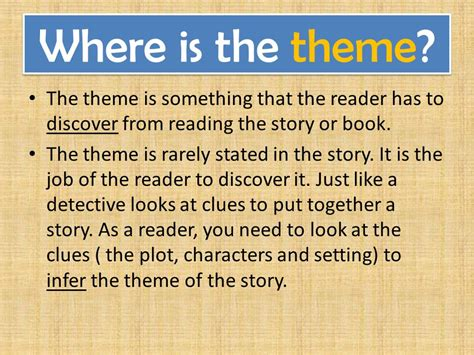 themes of a story powerpoint what s the theme how to identify the theme of a story