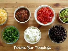 Toppings For A Baked Potato Bar crock pot baked potatoes and 20 topping ideas the