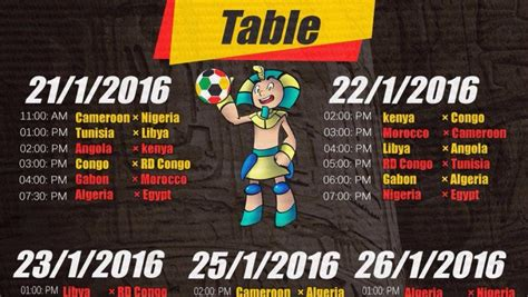 Calendrier Can Handball 2016 Le Calendrier De La Can 2016 En Egypte Handball Tn