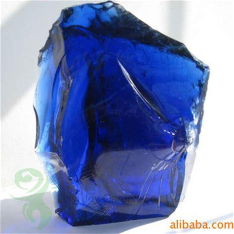 clear colored cobalt blue slag glass rocks for
