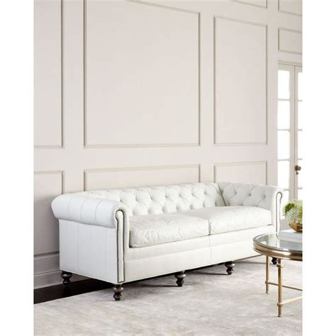 chesterfield white leather sofa best 25 white leather couches ideas on living