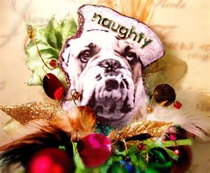 naughty bulldog christmas ornament by sugarcookiedolls on etsy