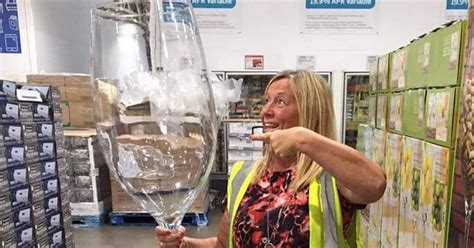 ginormous glass holding  bottles  wine   sale
