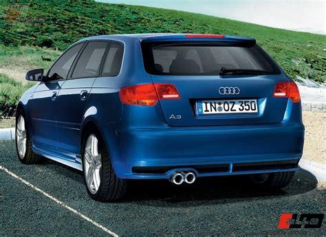 Audi A3 Sportback Unterschied audi a3 8p sportback sline hecklippe unterschied