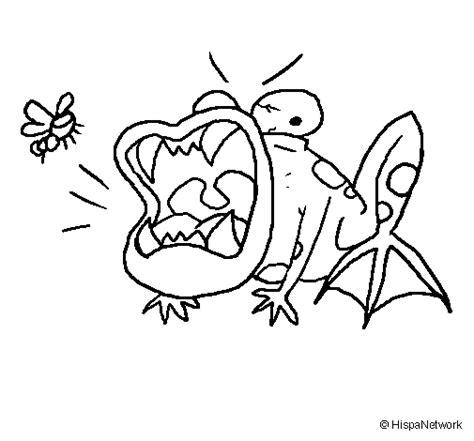 imagenes de sapos faciles para dibujar dibujo de sapo hambriento para colorear