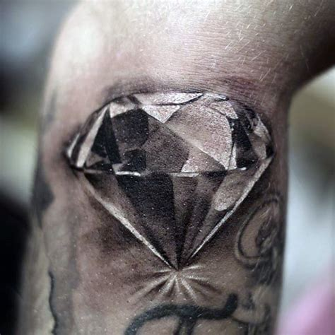 tattoo diamond black and grey brilliant detailed black and white diamond realistic