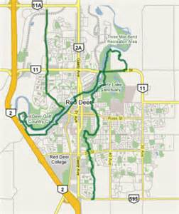 map deer alberta canada the transcanada trail the great trail in central alberta