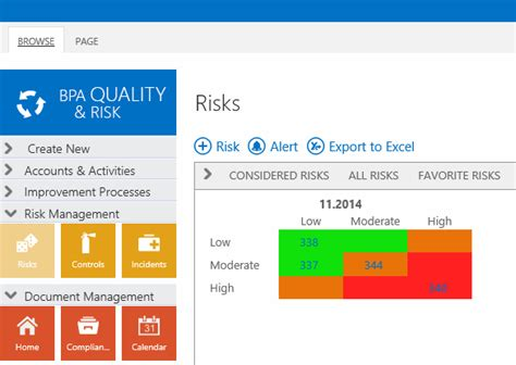 sharepoint risk management template backupspeak