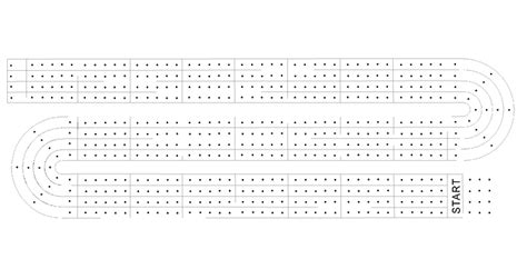 printable cribbage board hole patterns patterns kid