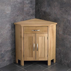 Solid Oak Corner Cupboard Cabinet Storage Unit TV Stand