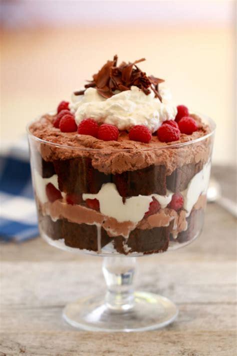 sweet fix easy chocolate raspberry dessert chocolate fudge brownie raspberry trifle recipe yummy